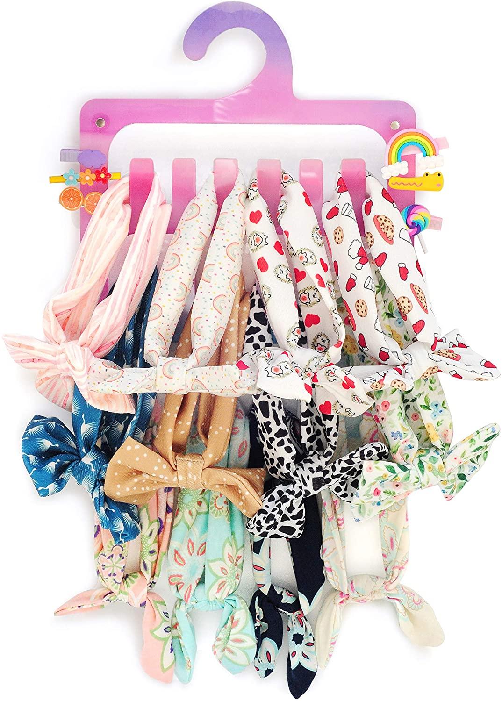 Girl Baby Headbands Storage Hanger Hair Ties Organizer Holder, Display Stand Acrylic Rack (No Accessories included)