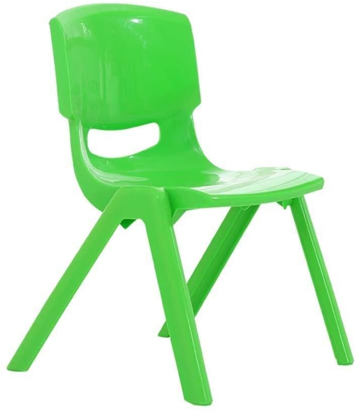 JN Children's Study Desk Children's Table Stool Chair Sets for Kids Early Education Plastic Game Learn Drawing Trapezoid Combination Table Children's Study Table and Chair Set (Color : Green)