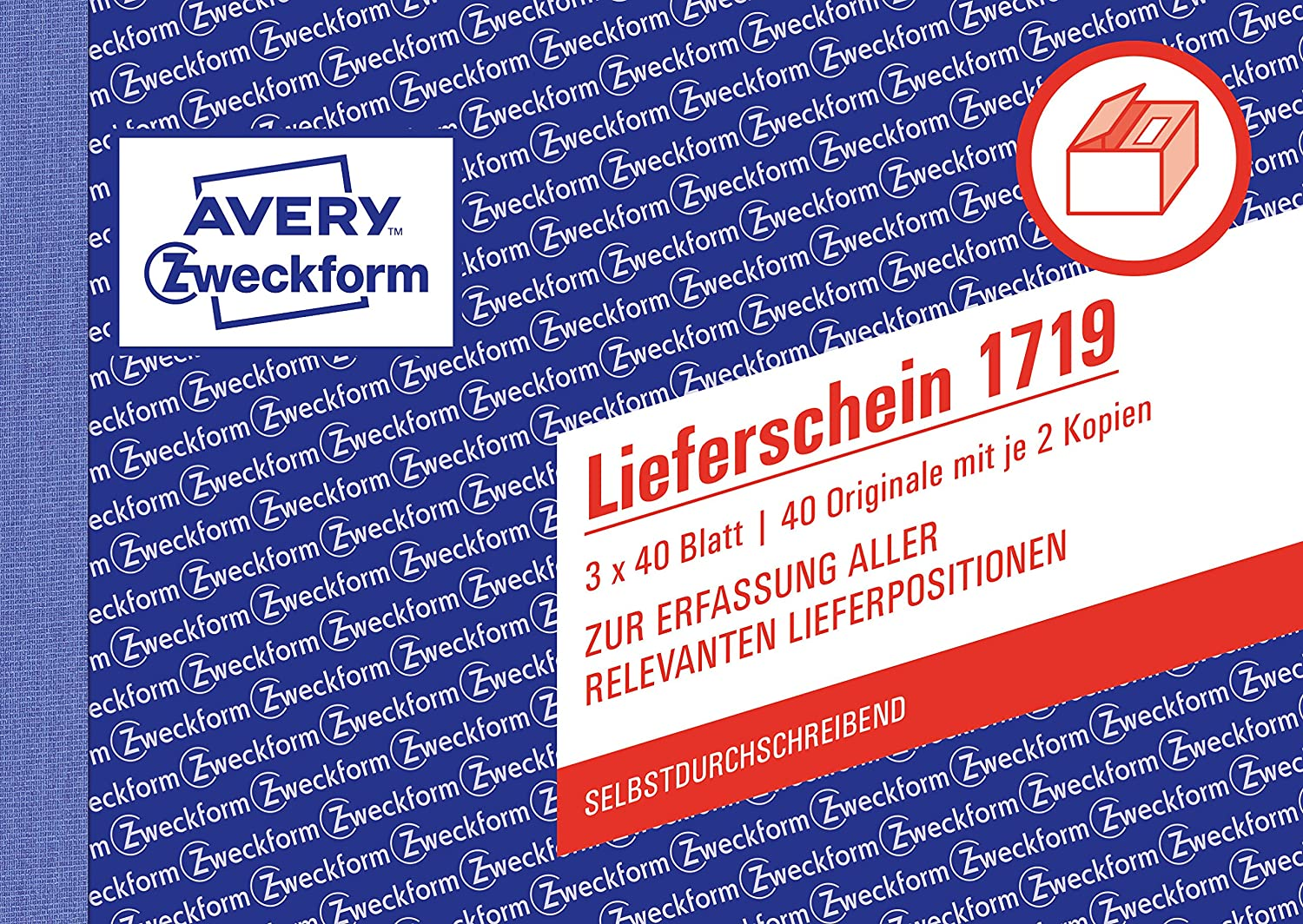 Avery Zweckform 1719 Delivery Notes for Austria DIN A6 quer – 3 x 40 Sheets, White, Yellow, Pink