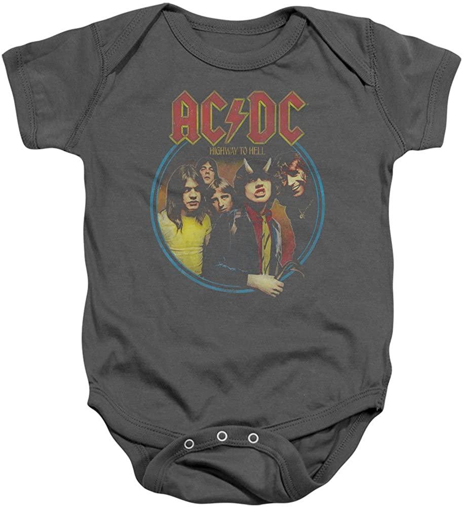 AC/DC Boys' Highway to Hell Bodysuit Grey