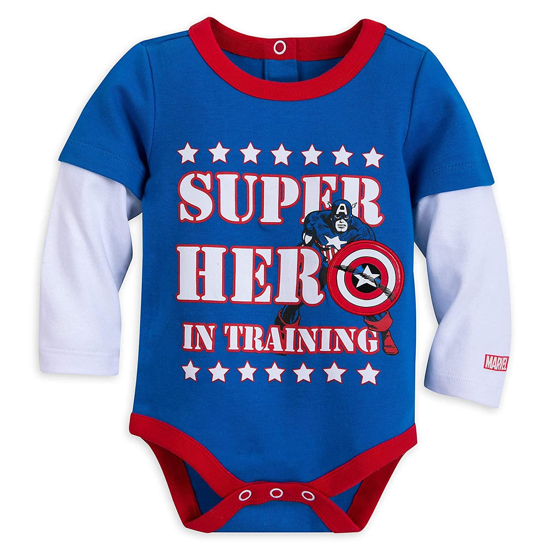 Marvel Captain America Bodysuit for Baby | Marvel Size 0-3 MO Multi