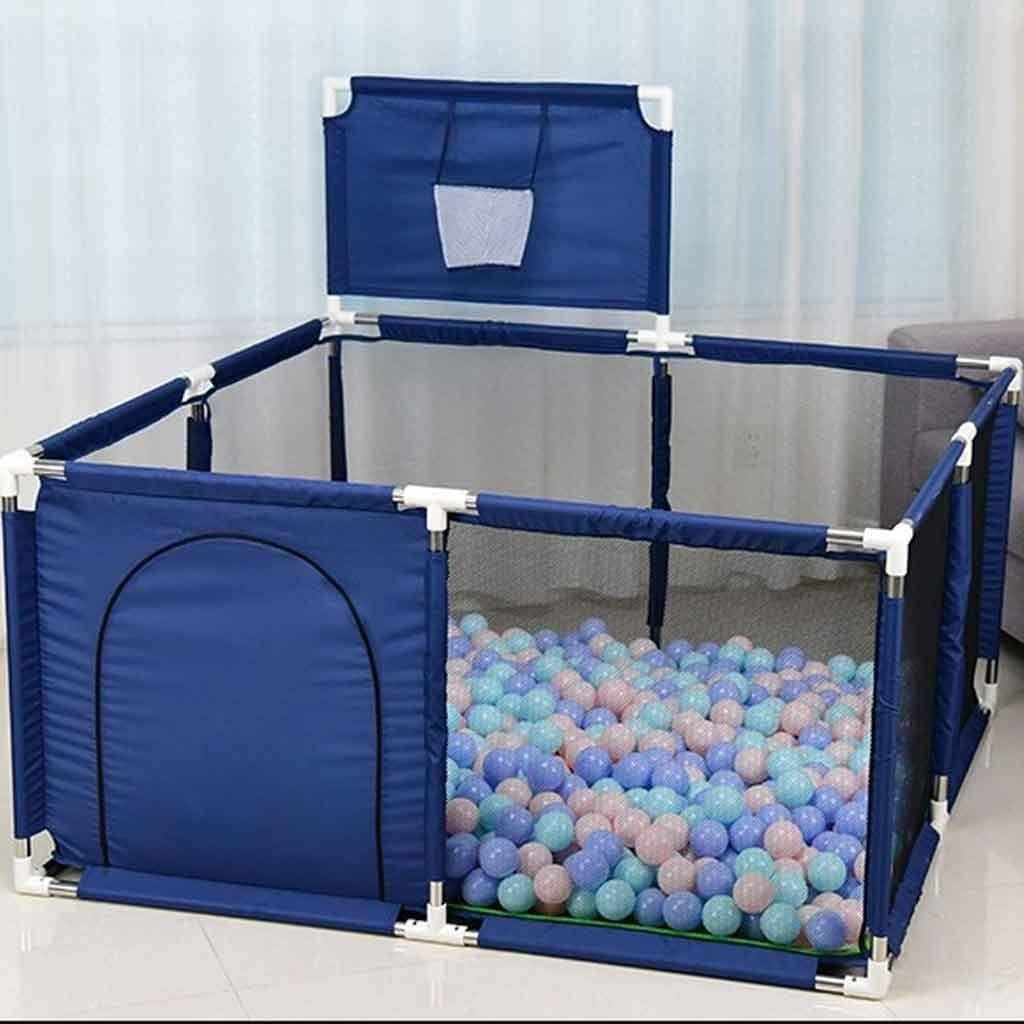 XIAO WEI Portable playpen Lightweight Baby playpen Made of mesh Play Pen and Ball Pit Indoor Children's Play Area with Basketball Hoop for Indoor and Outdoor use Toddler Toddlers Children Large A.