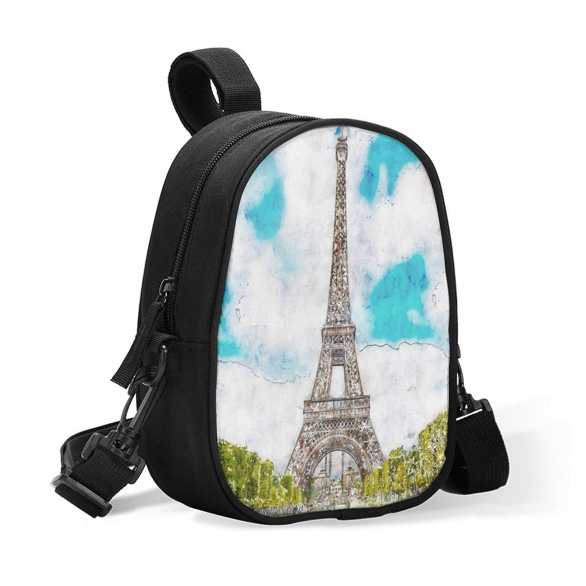 Breastmilk Cooler Bag Insulated Baby Bottle Bag Watercolor Landscape Paris Eiffel Tower Reusable Baby Bottle Warmer Tote Bag Handbag Lunch Bag Box for 2 Large Bottles for Nursing Mom, Stroller