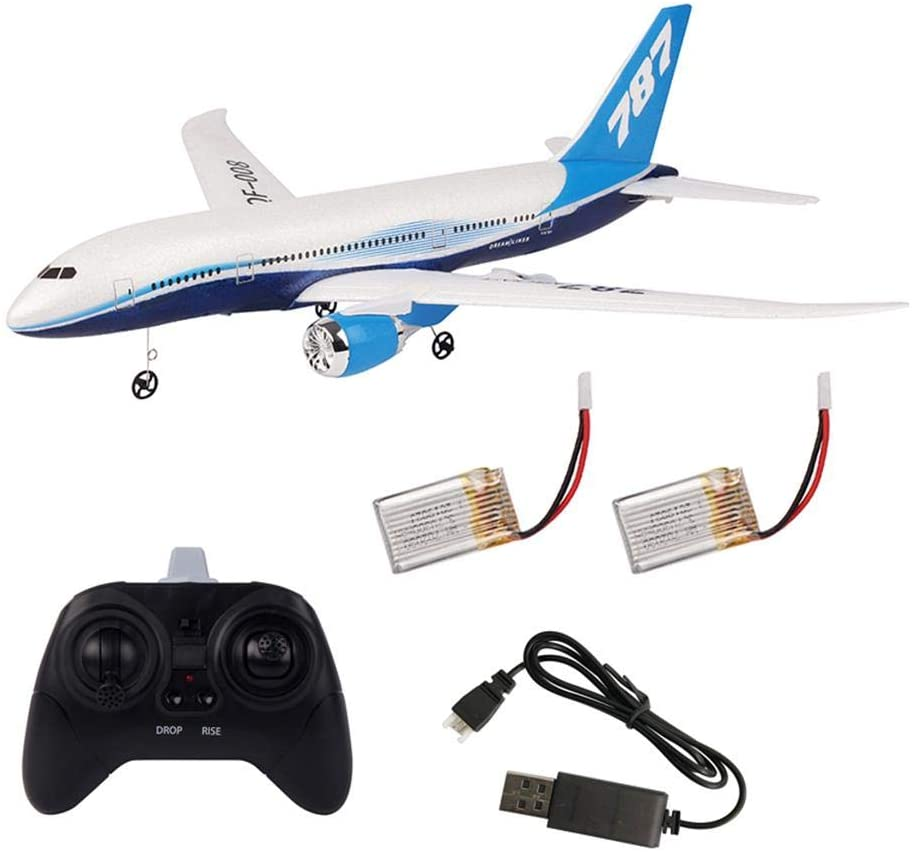 Betfandeful DIY RC Airplane Set 787 Model Foam EPP RC Drone 2.4G 3 Channel Remote Control Airplane Glider Aircraft, Best Gift for Kids and RC Plane Lovers