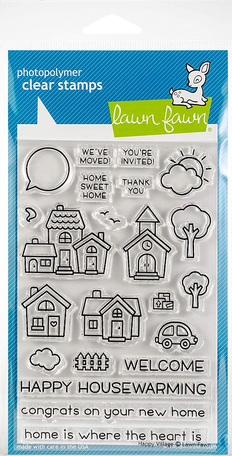 Lawn Fawn Clear Stamps - Happy Village (LF1591)