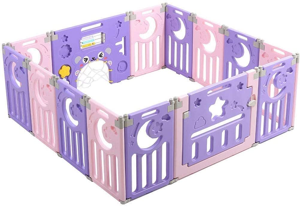 HWZQHJY Large Playpen for Babies Baby Playpen Indoor Safety Baby Fence (Size : 12 Pieces 160120cm)