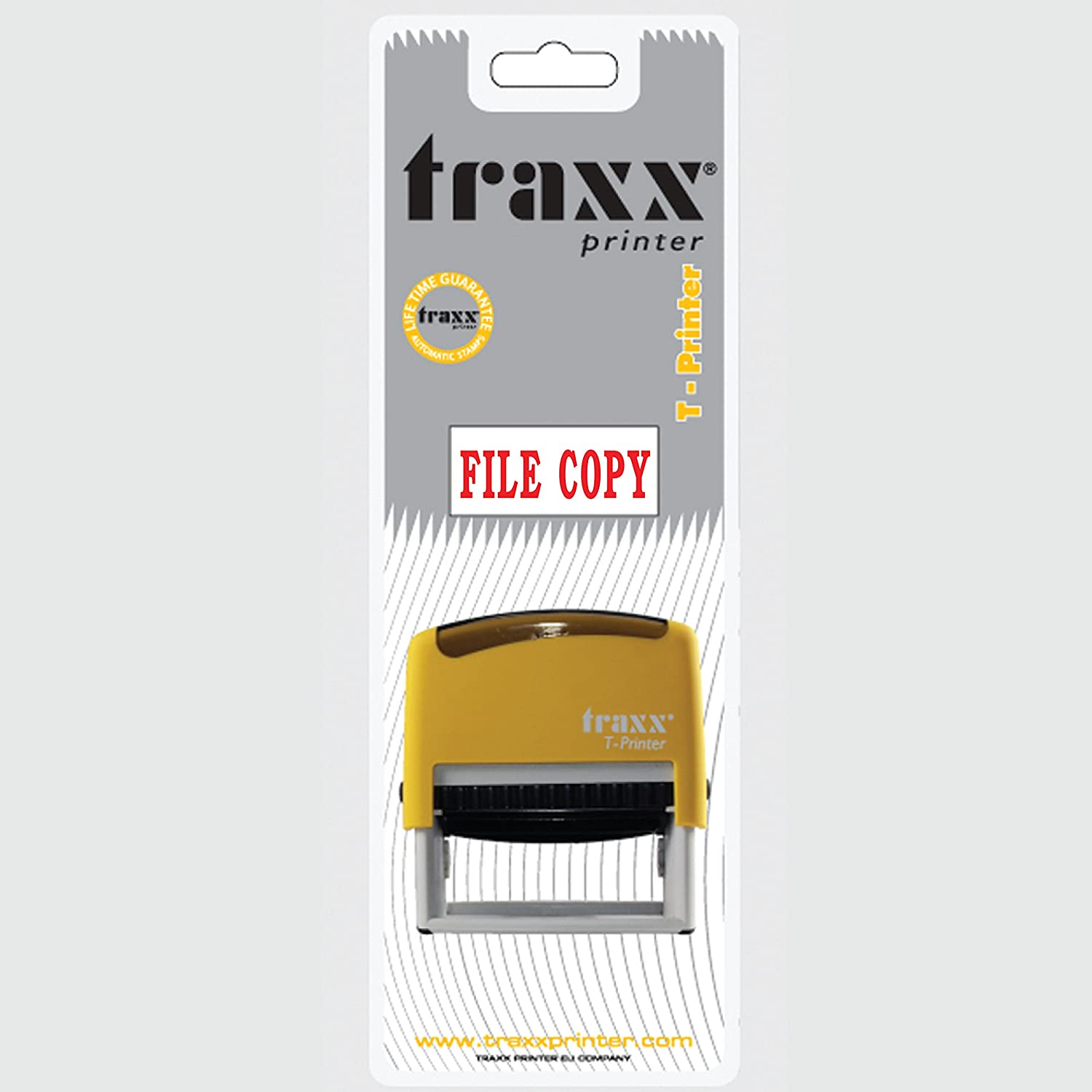 TRAXX T-Printer (EN) Self Inking Stock Text Stamp