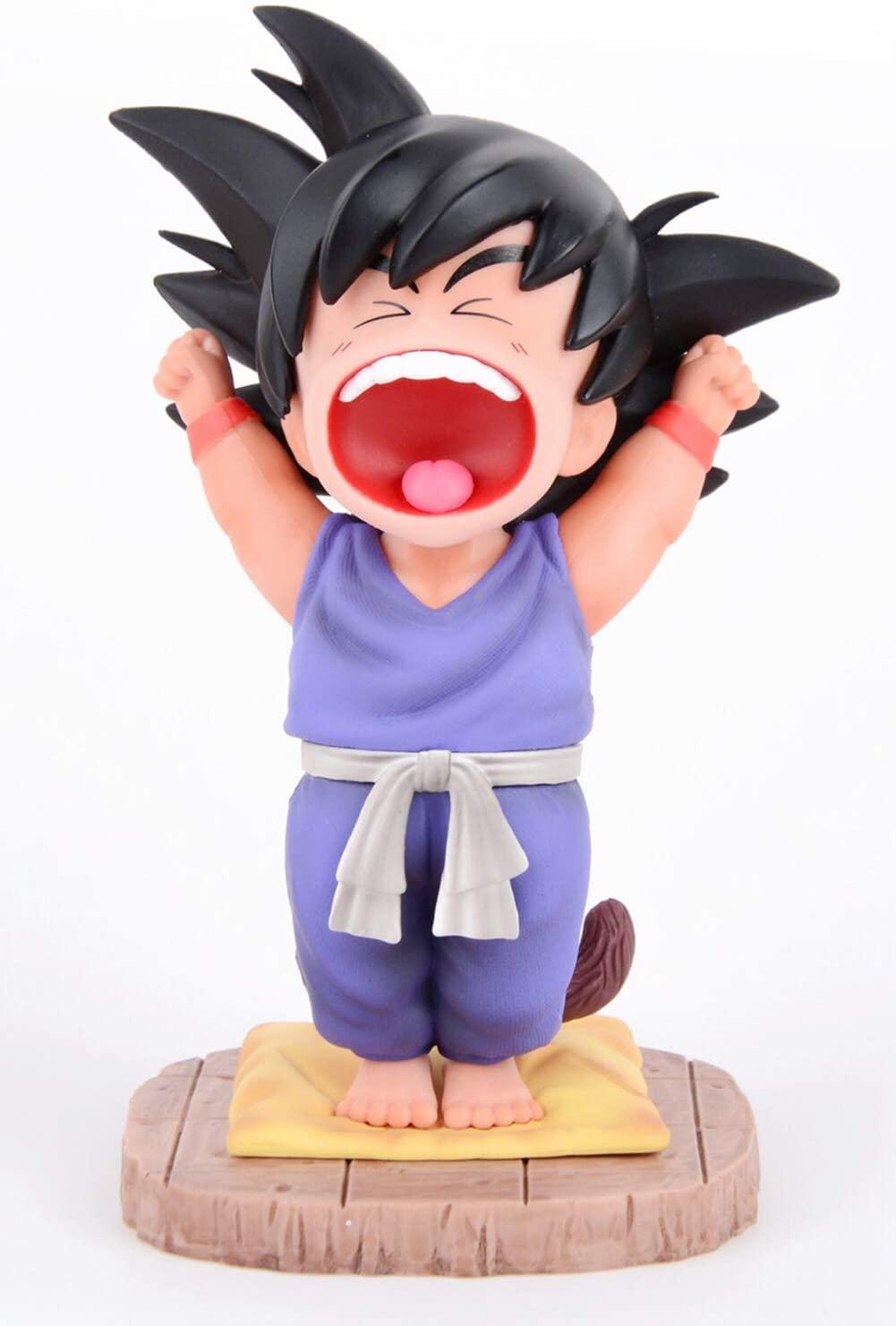 SURUIMA Dragon Ball Z Actions Figures GK Good Morning Goku Figure Statues Figurine Collection Birthday Gifts PVC 5 Inch DBZ (Good Morning Goku B)