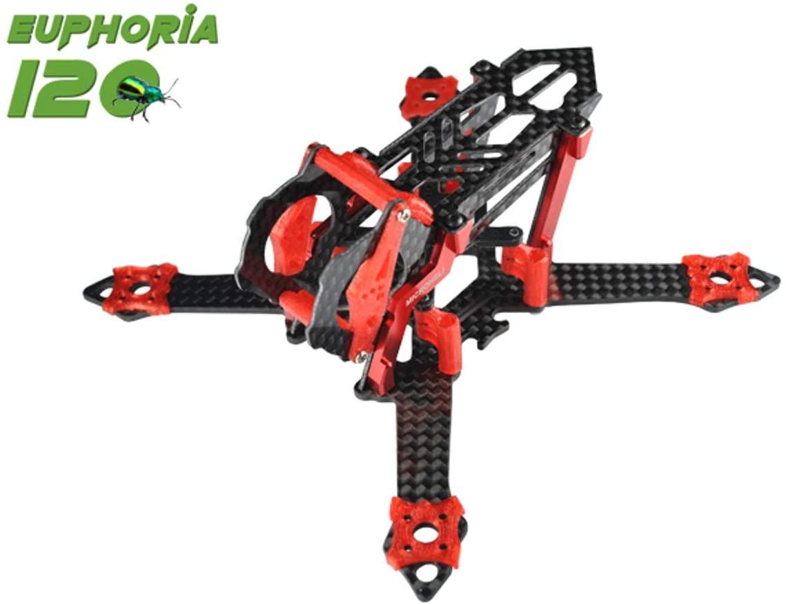 Microheli Euphoria 120 Racing Frame Kit (RED)