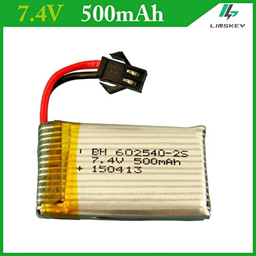 Parts & Accessories 7.4V 500mAh 7.4V lipo Battery for DFD F182 F183 H8C H8D Aircraft SM Plug 602540 25c Remote Four axis Lipo Battery 2S