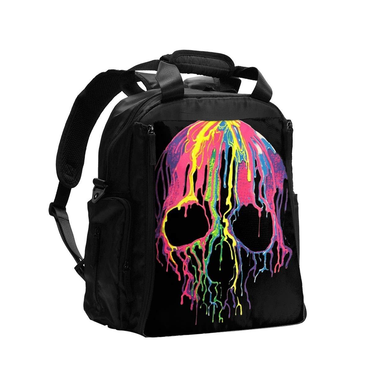 Melting Skull Diaper Bag Backpack Travel Backpack Maternity Baby Changing Bags