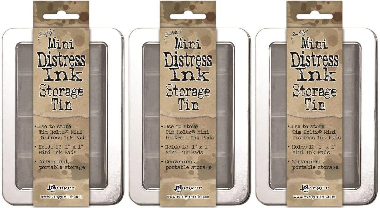 Tim Holtz Mini Distress Ink Storage Tins - (Pack of Three Tins)