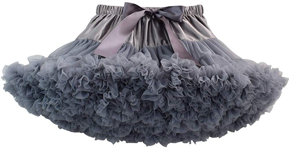 Baby Girls Tulle Tutu Skirt Princess Fluffy Soft Ballet Birthday Party Pettiskirt 9 Months to 8 Years