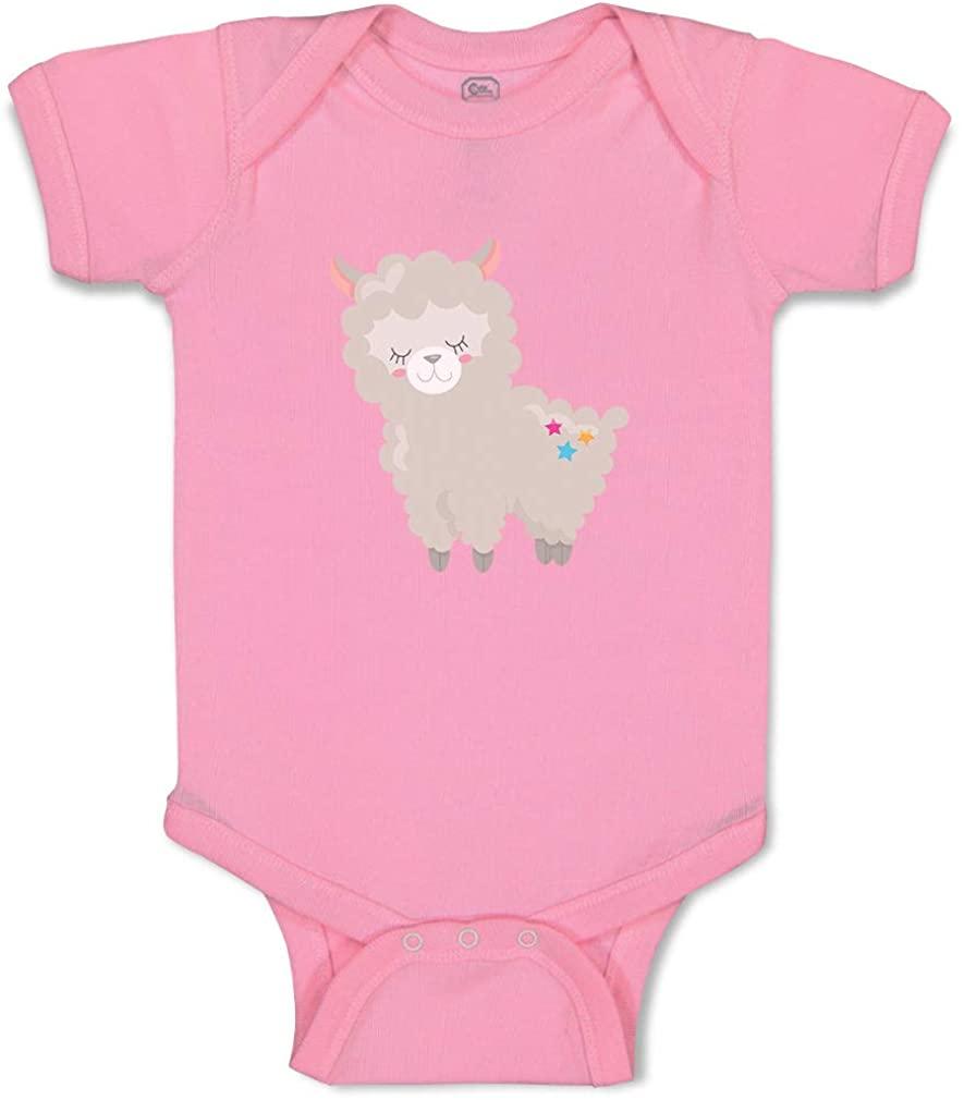 Custom Personalized Boy & Girl Baby Bodysuit Llama Stars Funny Cotton Baby Clothes