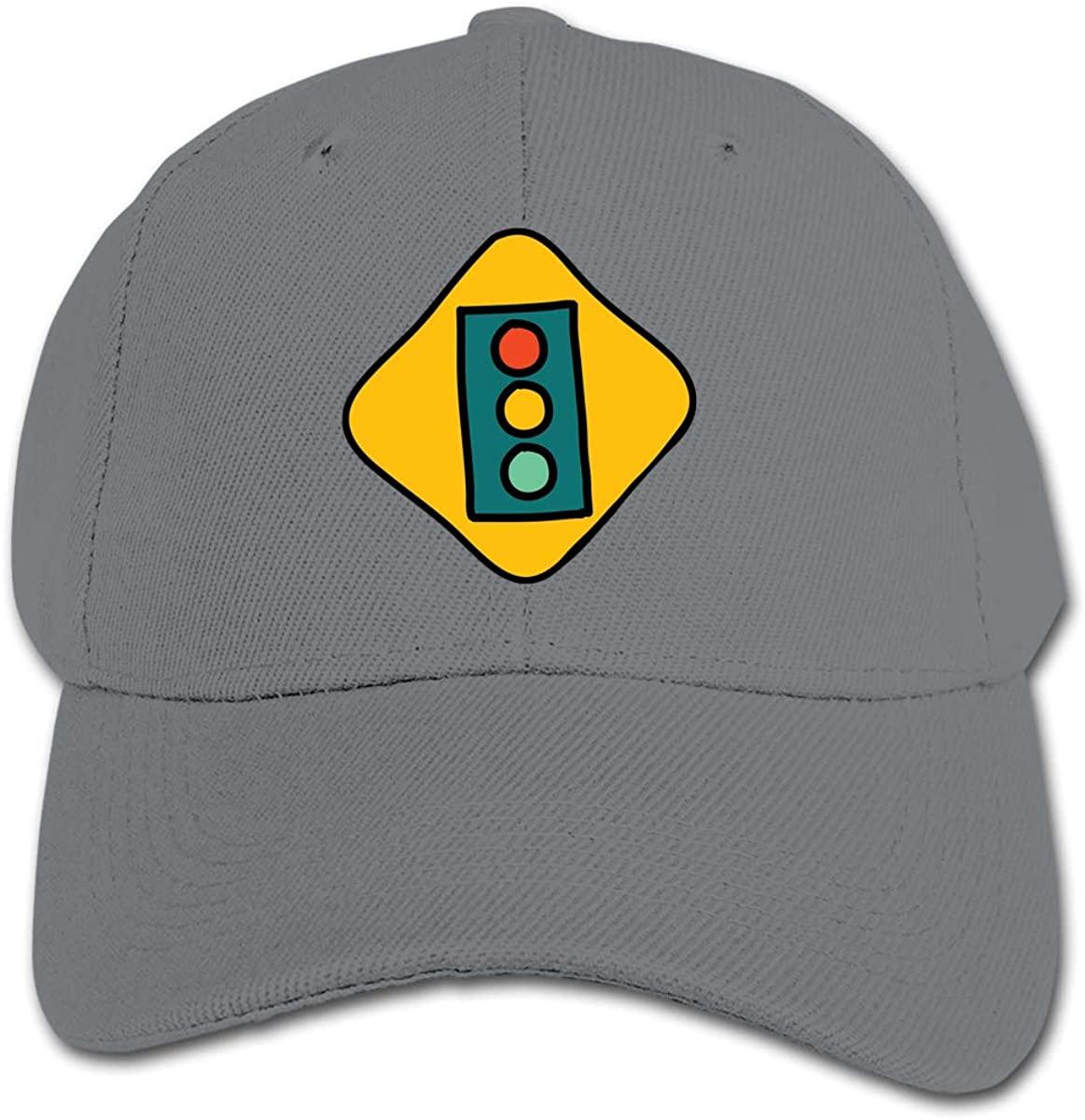 Traffic Lights Kid's Daily Sun Protection,Casual, Baseball Cap, Adjustable Cartoon Hat Cap