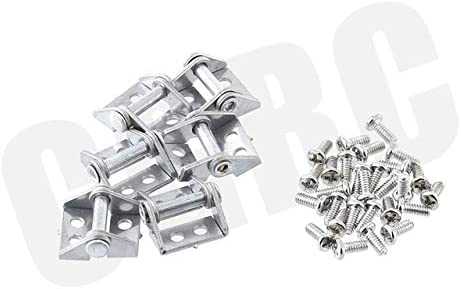 Parts & Accessories 6pcs Metal Trailer Cargo Box Hinge for 1/14 for Tamiya RC Truck Man Benz Scania 1/10 RC Crawler - (Color: Silver)