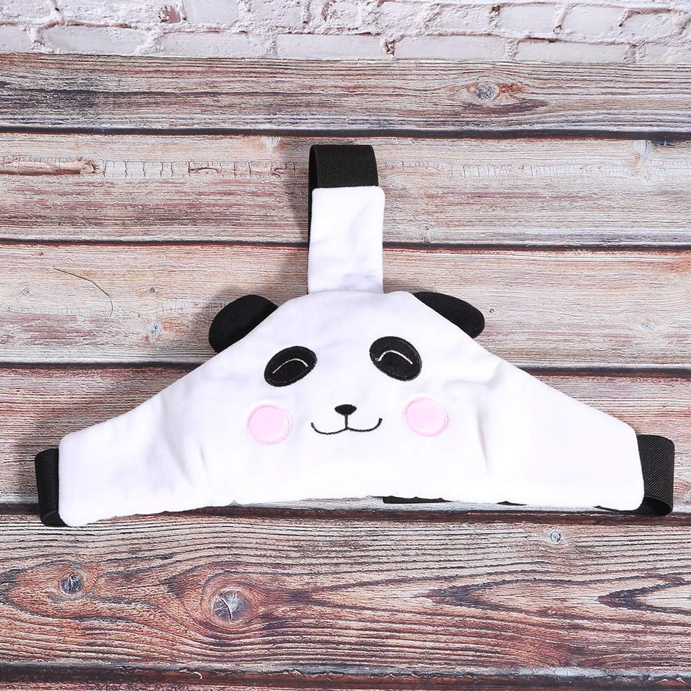 Head Protector Belt, Durable Exquisite Elastic Head Support Protection Stretchable for Chidren Long‑Distance Travel(Panda Strap)