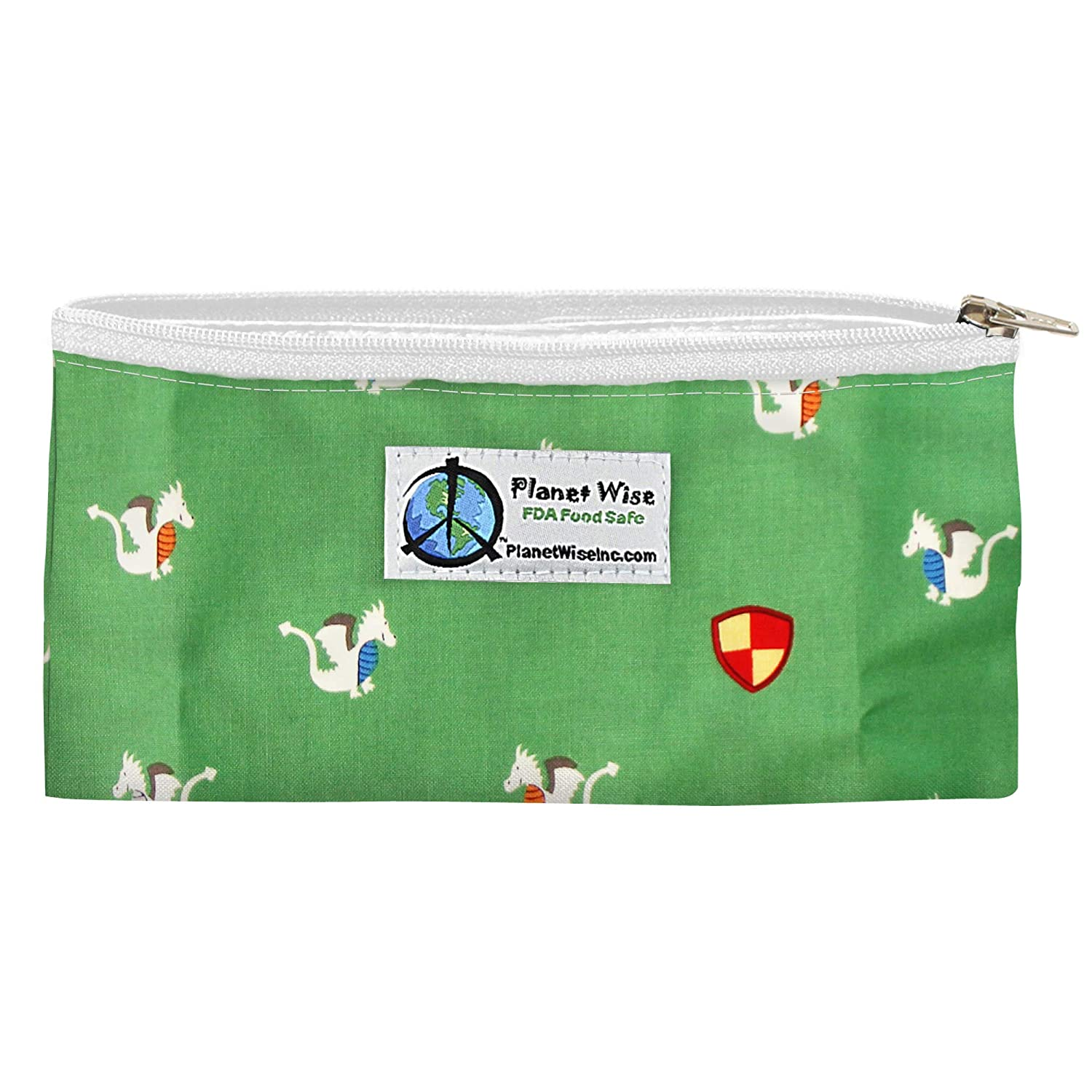 Planet Wise Reusable Zipper Sandwich and Snack Bags, Snack, Magic Dragon