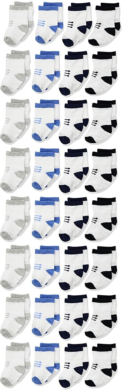 Gerber Baby Boys 8-Pair Wiggle Proof Sock