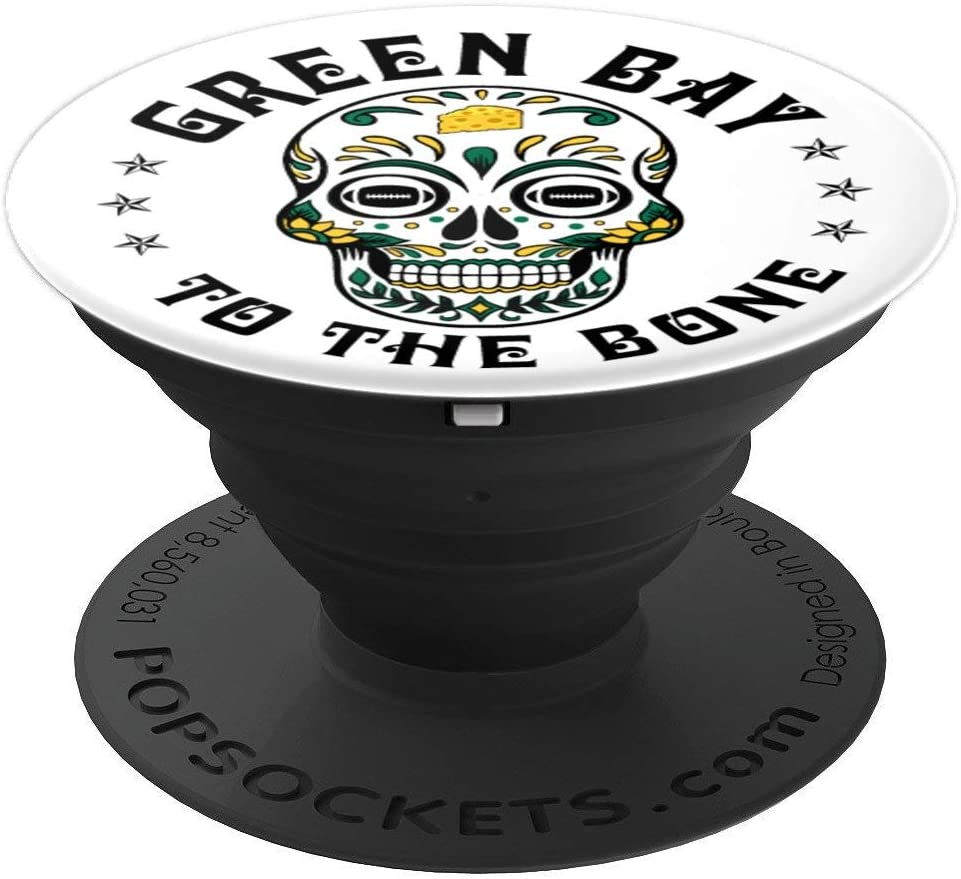 Green Bay to the Bone Football PopSockets Grip and Stand for Phones and Tablets
