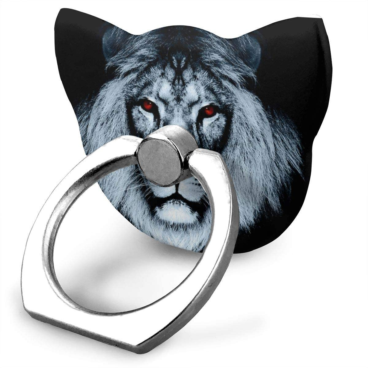 Cat Cell Phone Ring Holder Amazing Lion Cat Ring Holder Phone Ring Stand Finger Kickstand 360° Rotation Compatible with All Smartphones