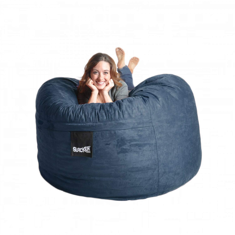 Unik Always Navy Blue Microfiber and Memory Foam 5foot Bean Bag