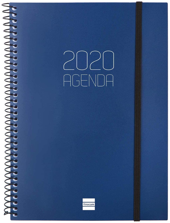 Finocam – Agenda 2020 Week View Vertical Spiral Opaque Catalan Blue