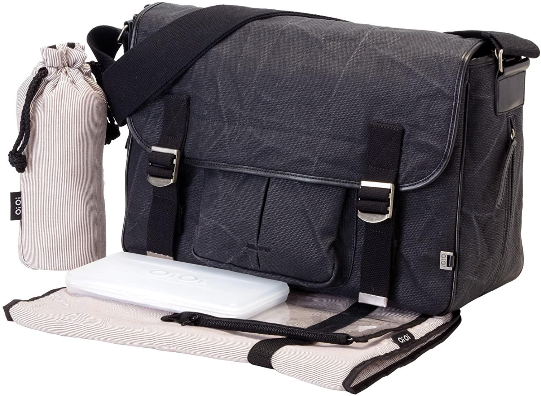 OiOi Diaper Bags Waxed Canvas Diaper Bag