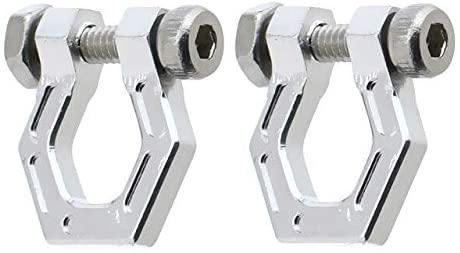 Parts & Accessories 2Pcs Metal CNC Alloy Trailer Buckle Tow Hook for 1/10 RC Crawler Car TRX4 TRX6 G63 SCX10 90046 D90 D110 TF2 DIY Decoration - (Color: Silver)