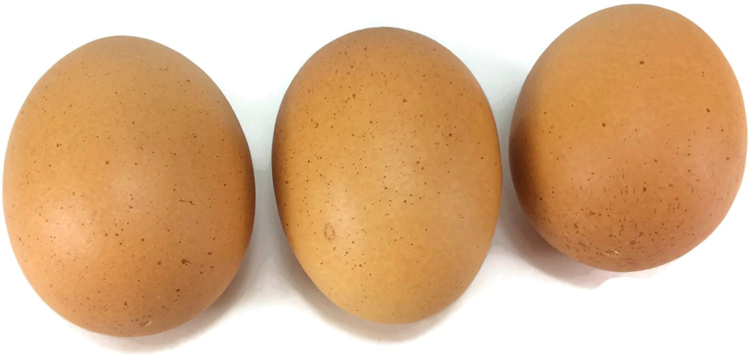 perfect2desire Egg Artificial Lifelike Simulation Faux Fake Chicken Egg 3 Pieces