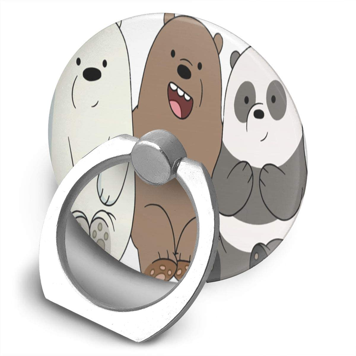 We Bare Bears Phone Ring Cell Phone Ring Holder Finger Kickstand,360 Degree Rotation Stand Grip with Car Mount Compatible with All Smartphone-Life is an Adventure
