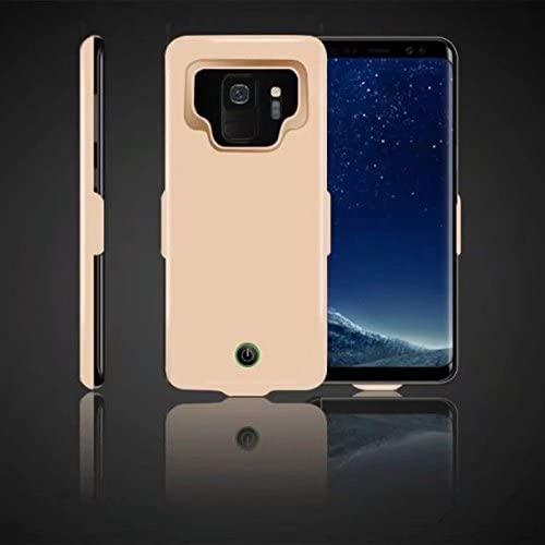 Ocamo Portable High Capacity External Charging Case 7000mAh Extended Battery Protective Case for Samsung Galaxy S9/S9Plus Golden S9