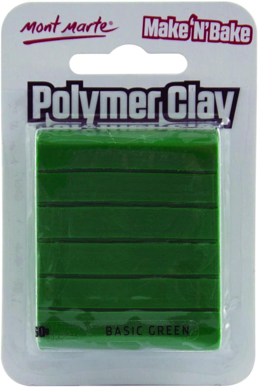 Mont Marte Make n Bake Polymer Clay - Basic Green