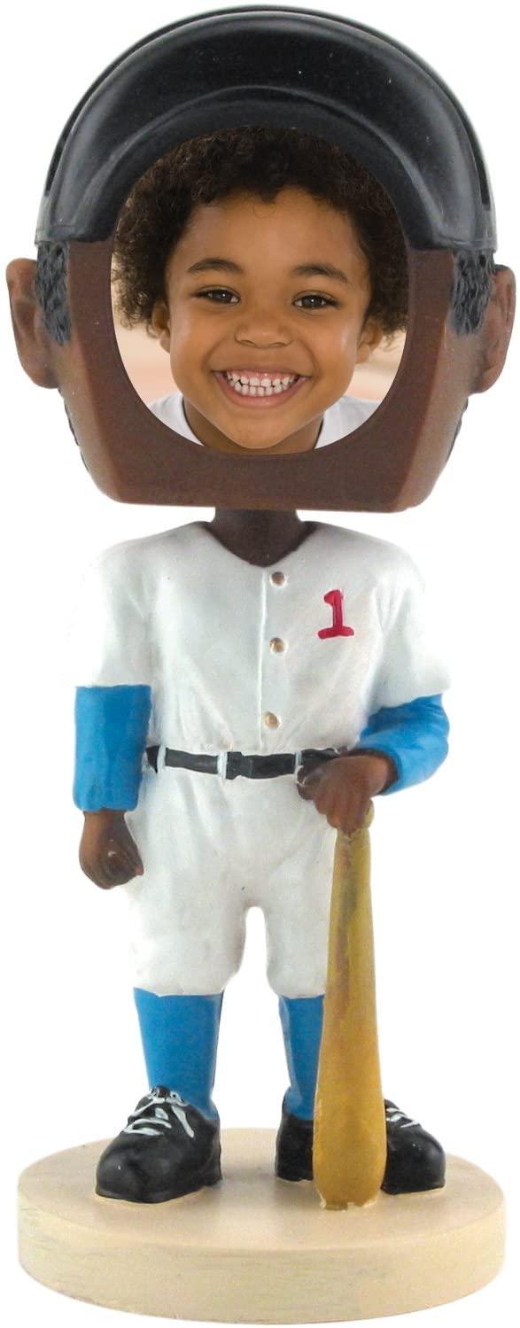 Baseball Photo Bobble Head - Dark Skin Tone