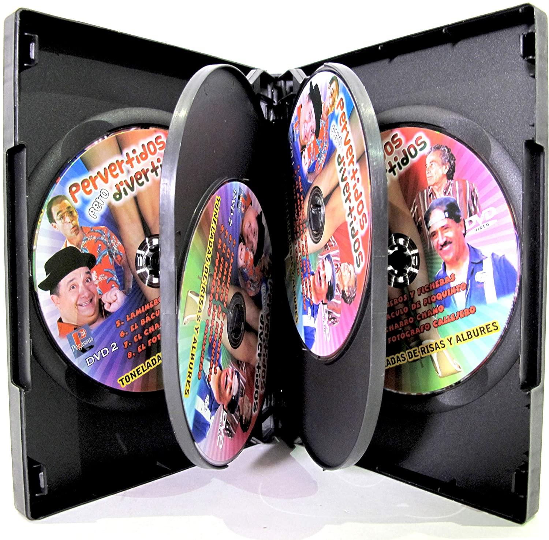 Six Disc DVD Case 6 Disc Capacity 27mm Thick Commercial Gauge Black DV6R-27BK (100 Pieces)