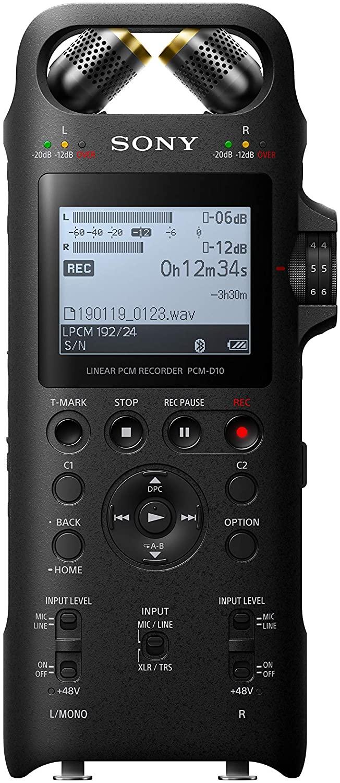 Sony PCM, 2 Portable Studio Recorder, XLR to 1/4-Inch (PCMD10)