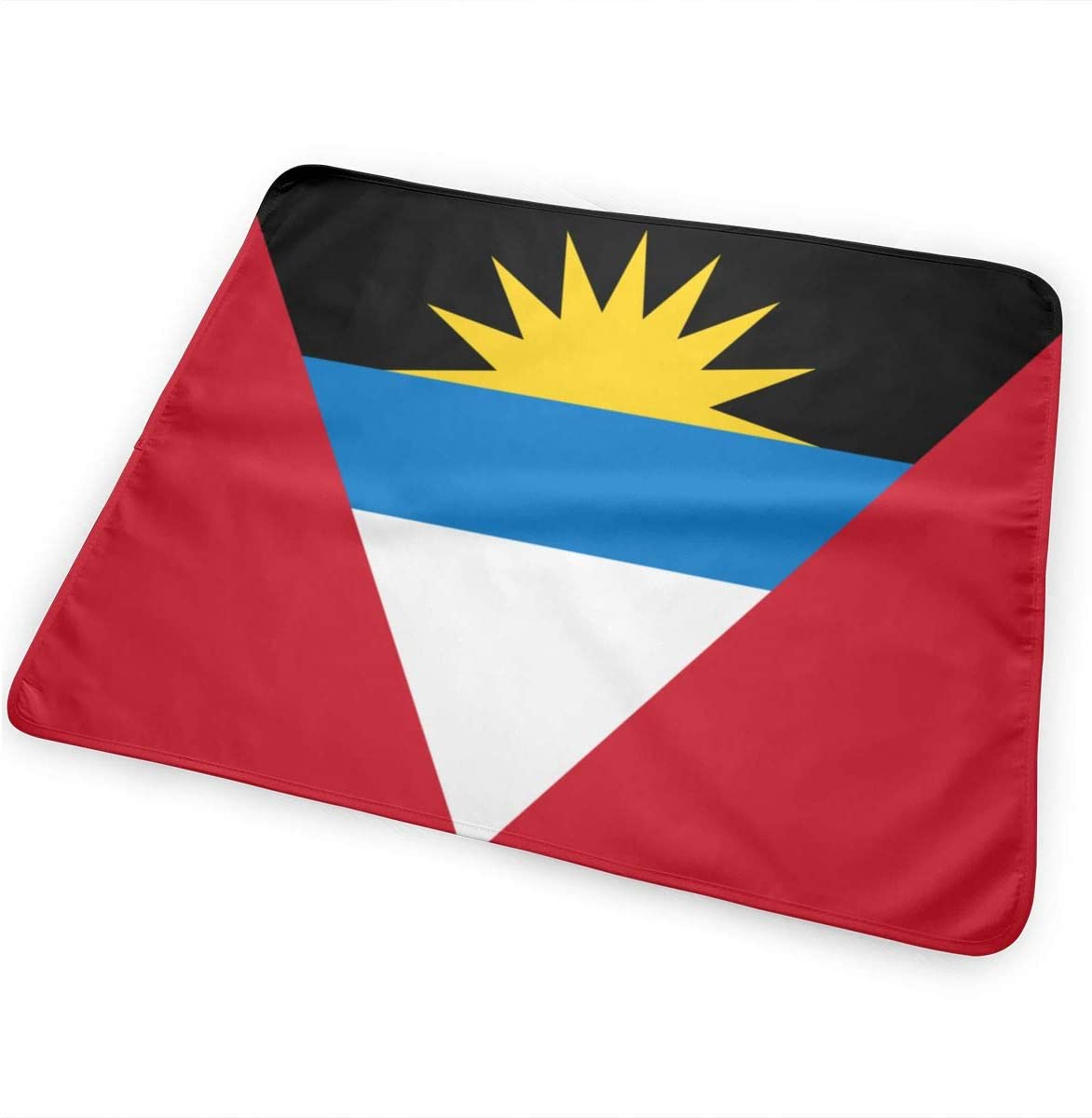 Flag of Antigua and Barbuda Breathable Urine Mat Waterproof Changing Pad for Baby Washable Mattress Pad Sheet Protector
