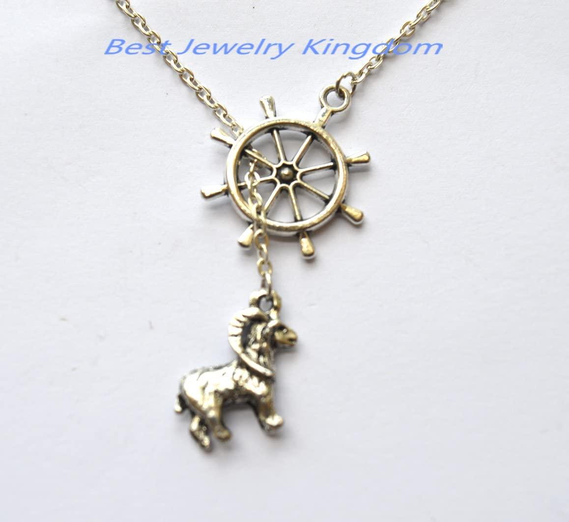 Ship Rudder Necklace -Silver Ship Rudder Charm Necklace,Goat Necklace - Goat Gift - Goat Lover - Animal Lover - Farm Gift