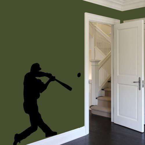 CreativeWallDecals Vinyl Wall Decal Sticker boy Baseball Player Gift Teenager Play Game Kids a5