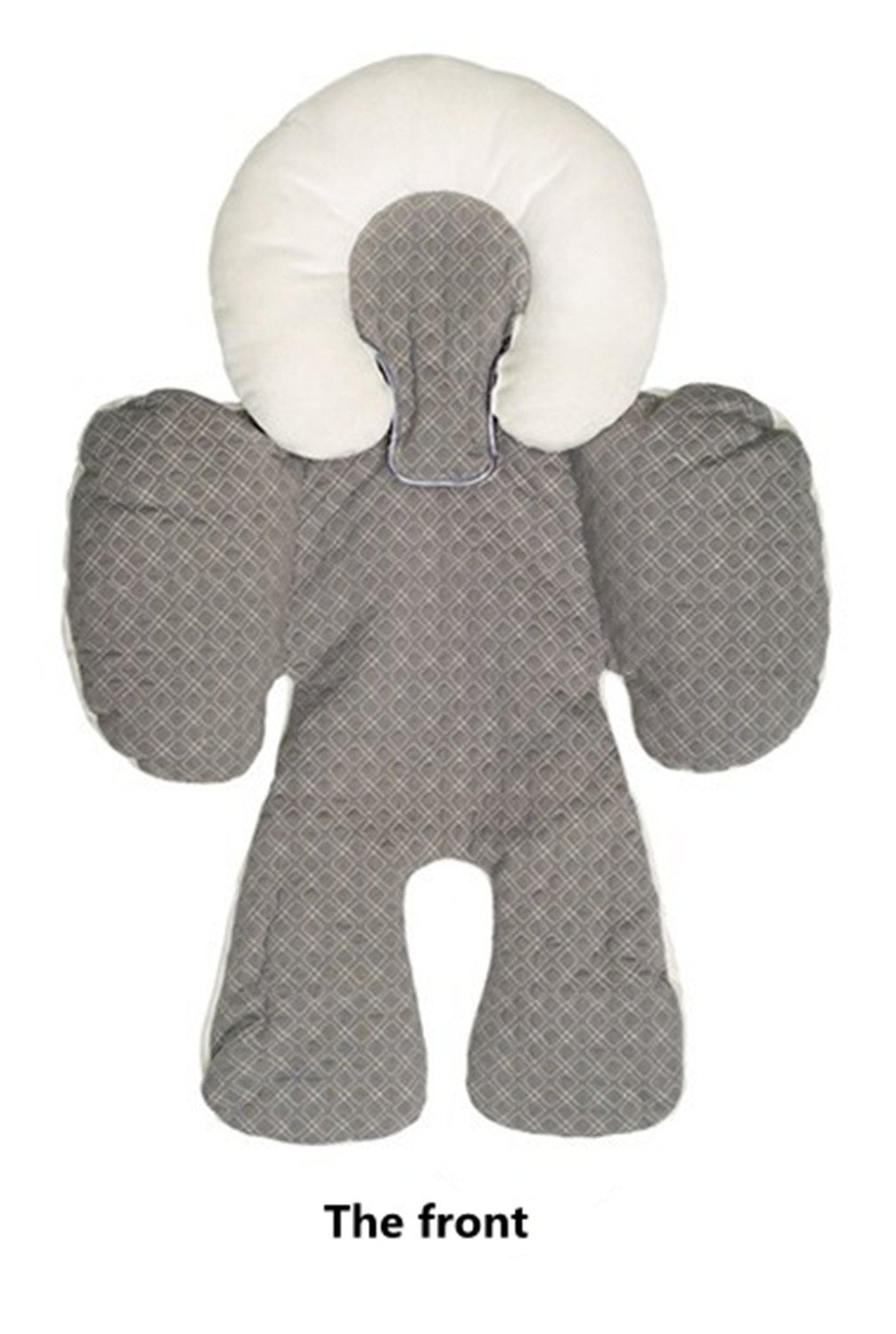 Ben Baby Infants Body Support Pillow with Head and Neck Pillow for Car Seats Strollers,Cushion Available on Both Sides (Grey)