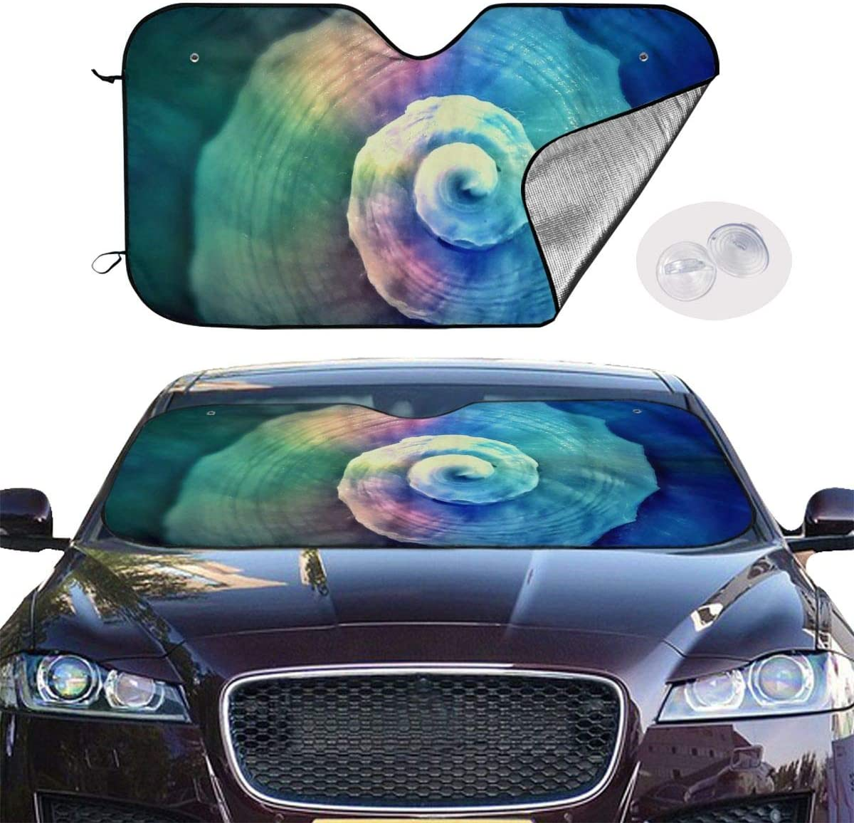 THONFIRE Car Windshields Sun Shade Fantasty Light Shell Blocks UV Rays Keeps Your Vehicle Cool Visor Protector Auto Front Window Heatshield