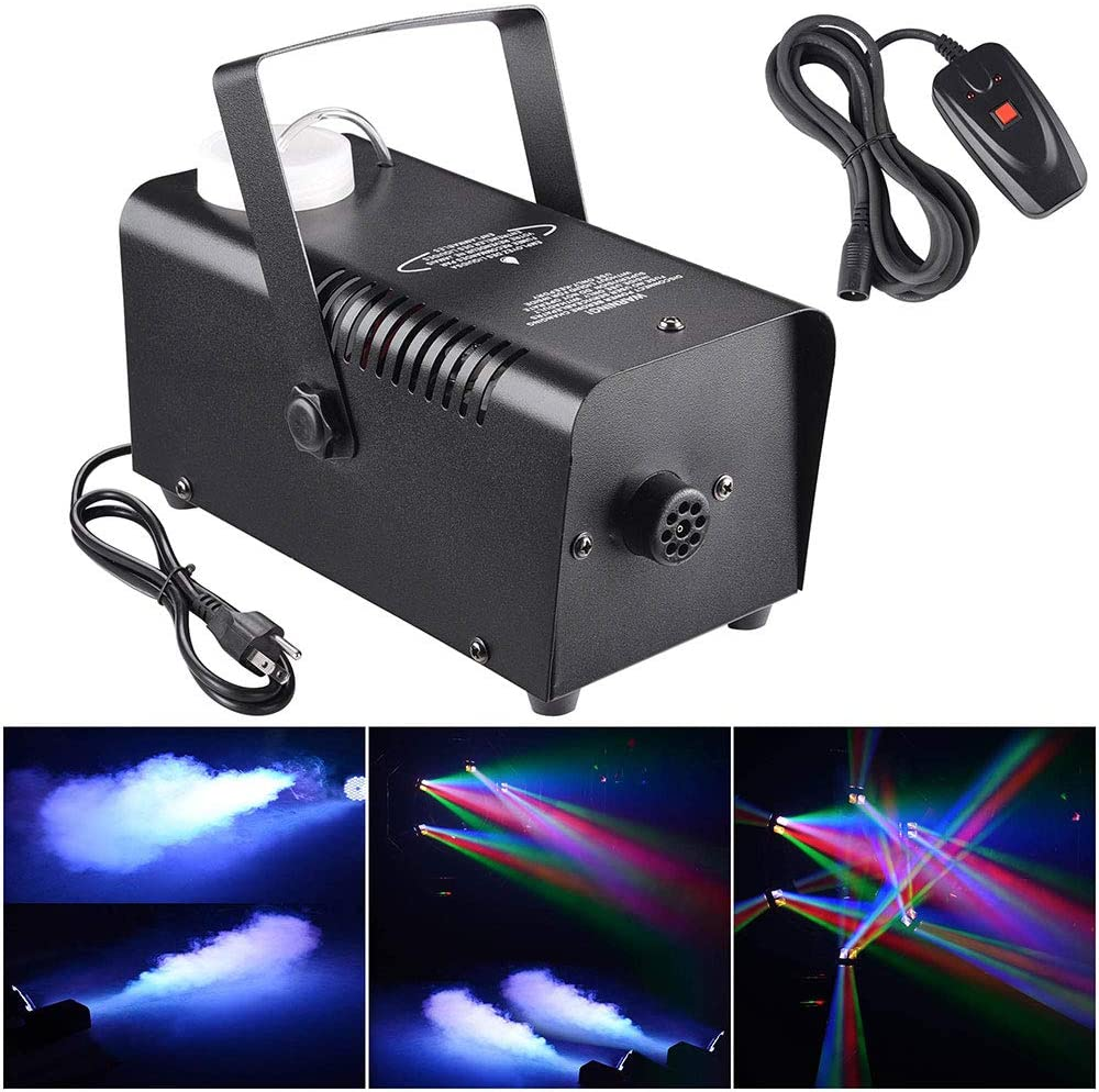 AW 400W Smoke Effect Machine Stage Fogger Equipment Wired Control Disco Party Show