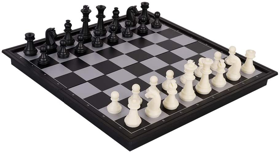 JAYINS Magnetic Travel Chess Set Educational Toys Game Training for Kids and Adults with Folding Chess Board Games