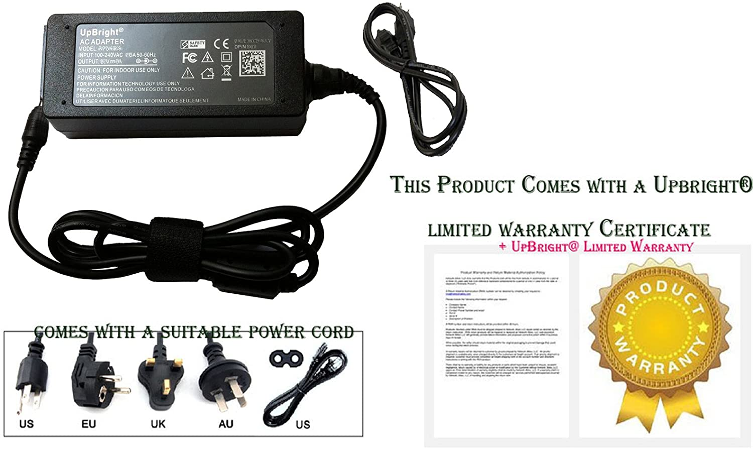 UPBRIGHT New Global AC/DC Adapter for AEMC 5000.57 6470-B 6470B Digital Ground Resistance Tester Power Supply Cord Cable PS Charger Mains PSU