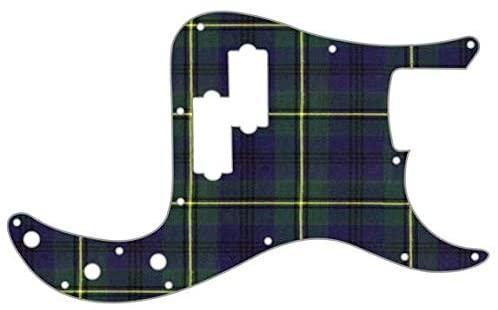 Custom Graphical Pickguard to fit Fender P Bass Precision Bass Tartan Johnstone
