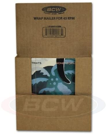 5 BCW Wrap Mailer for 45 RPM Record