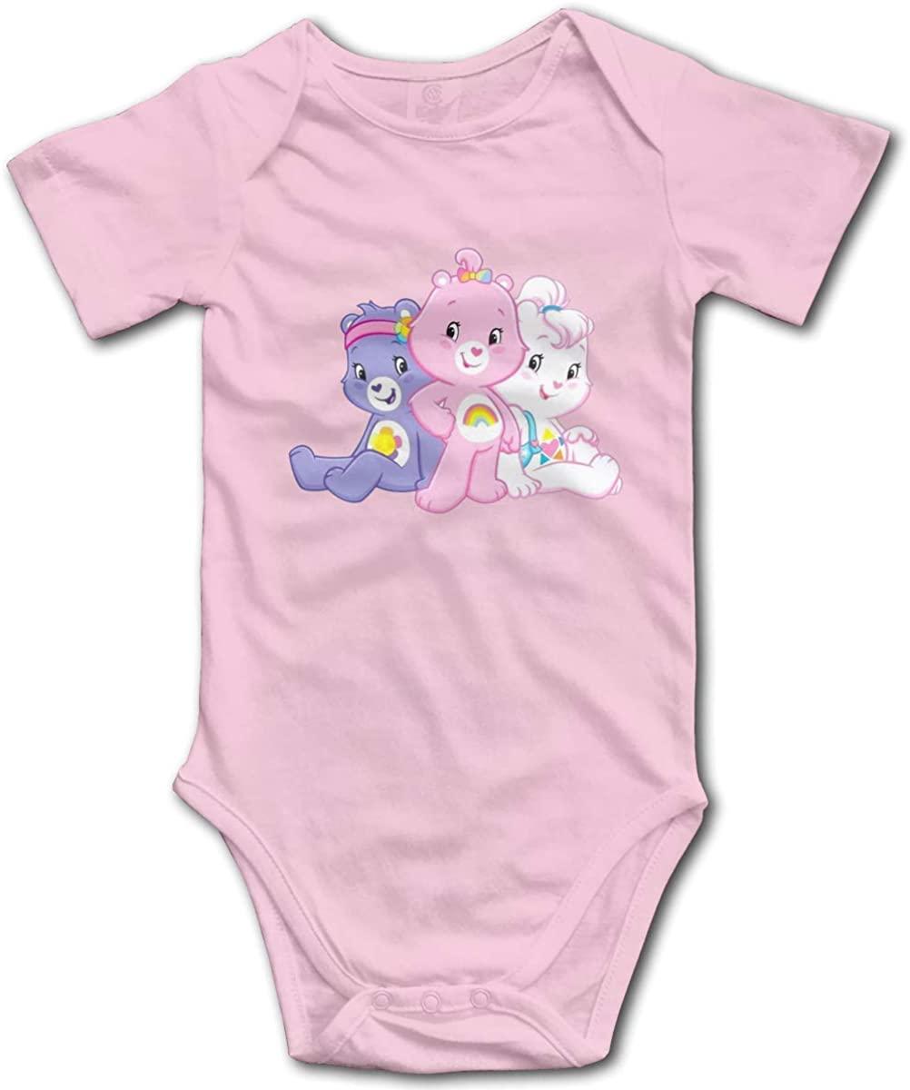 Care Bears Funny Pattern Cartoon Design Bodysuits Funny Baby Onesies Unisex Boys Girls Pink
