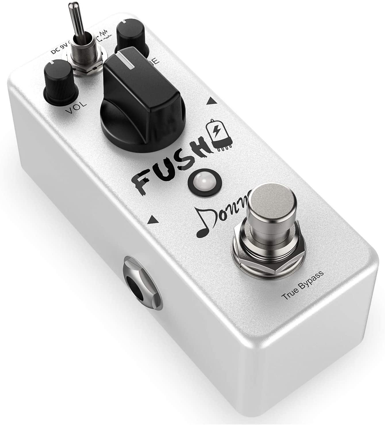 Donner FUSH-DRIVE White Tube Overdrive Distortion Guitar Effect Pedal Analog True Bypass