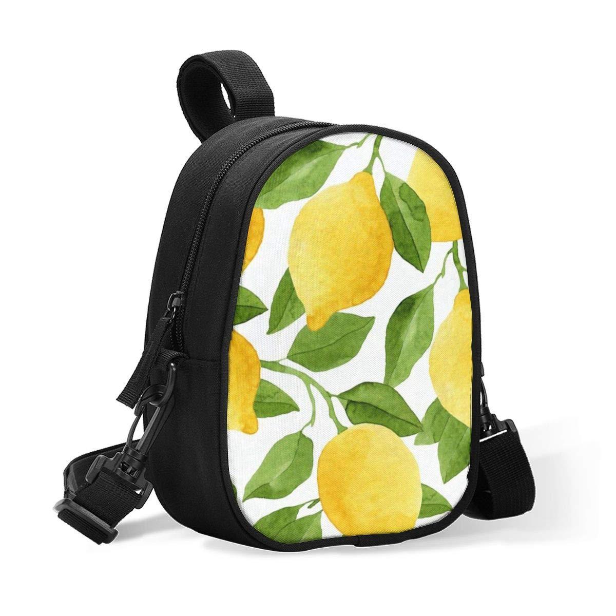 Bottle Cooler Lemom Fruit Watercolor Summer Breastmilk Cooler,Insulated Breast Milk Cooler Baby Bottle Bag W/Adjustable Strap Stroller Fits 2 Large Bottles,Lunch Box Tote Storage Bag