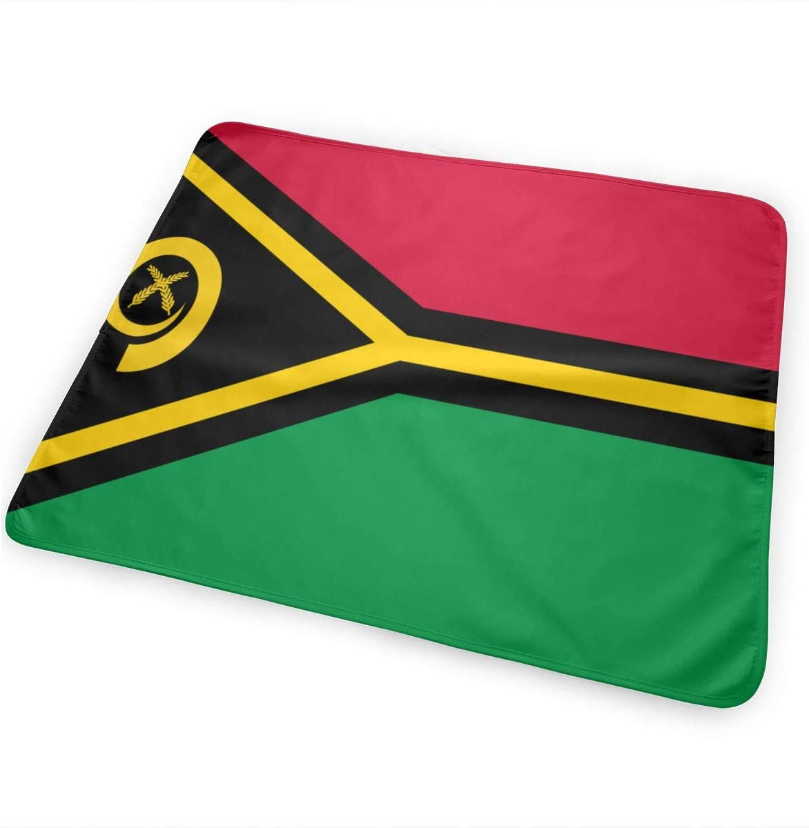 Flag of Vanuatu Breathable Urine Mat Waterproof Changing Pad for Baby Washable Mattress Pad Sheet Protector